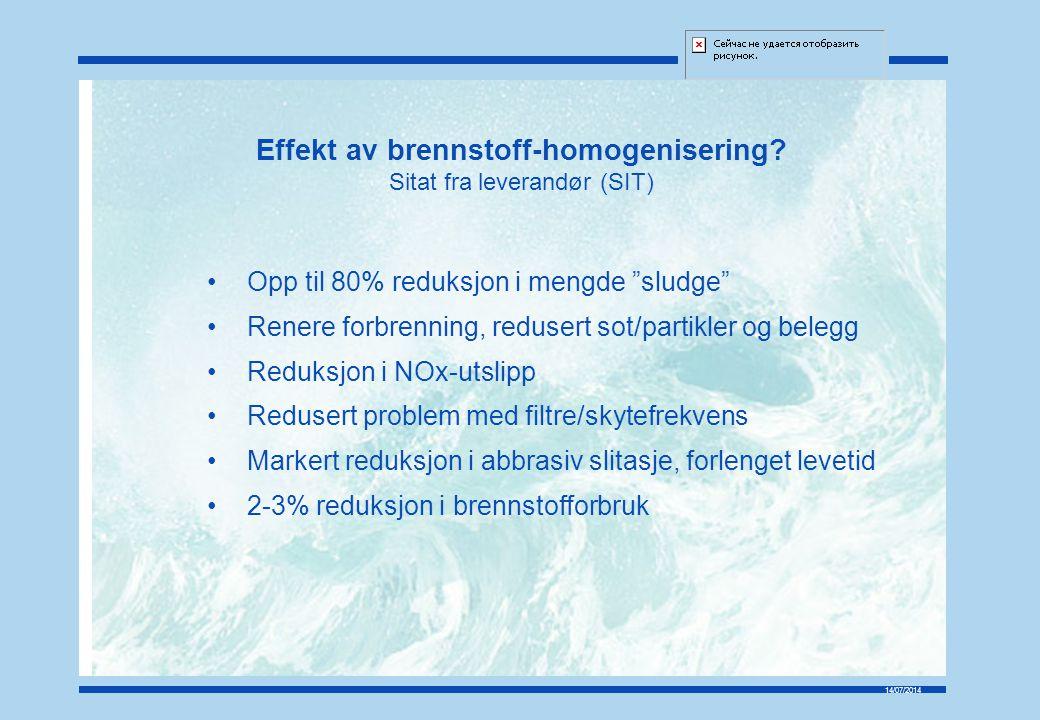 Effekt av brennstoff-homogenisering
