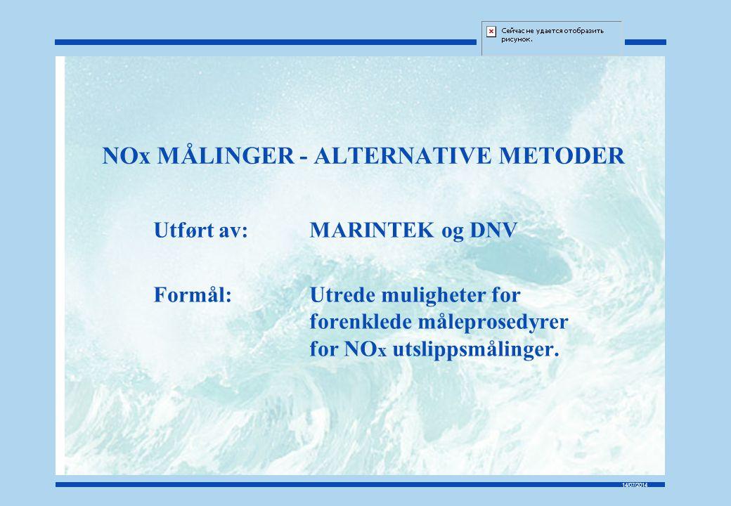 NOx MÅLINGER - ALTERNATIVE METODER