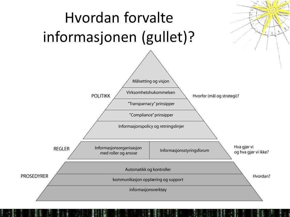 Hvordan forvalte informasjonen (gullet)