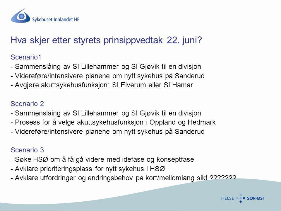 Hva skjer etter styrets prinsippvedtak 22. juni