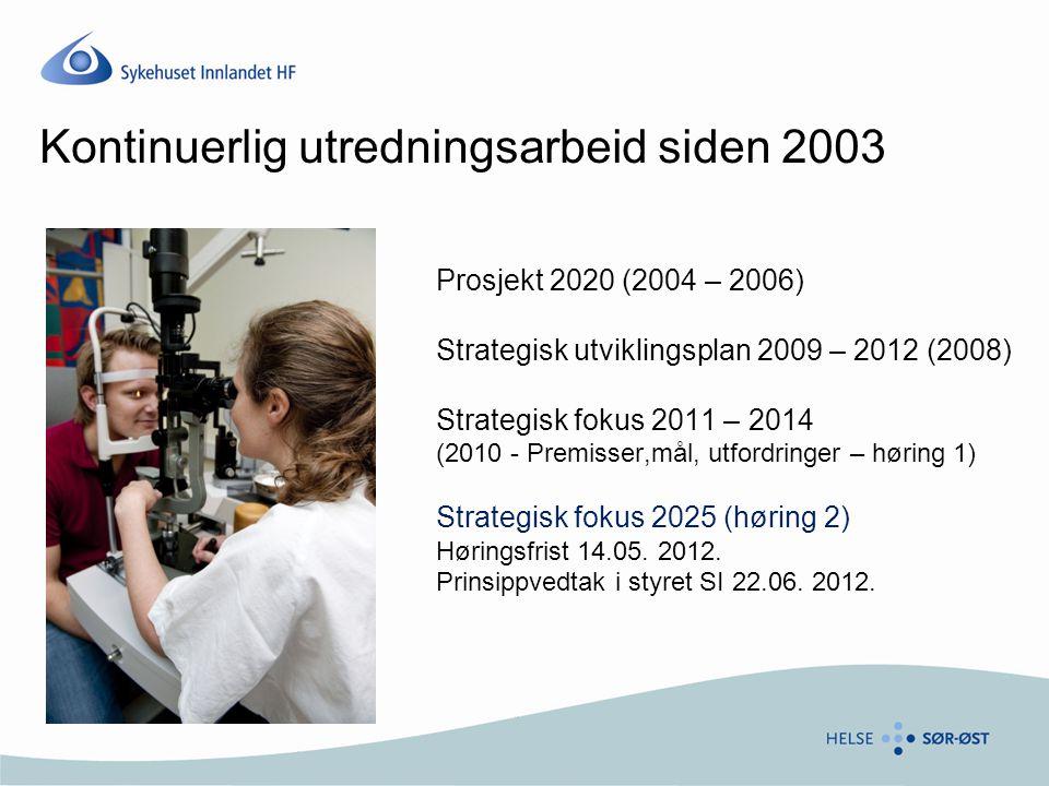 Kontinuerlig utredningsarbeid siden 2003