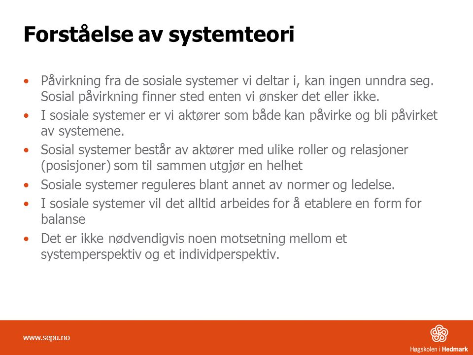 Forståelse av systemteori