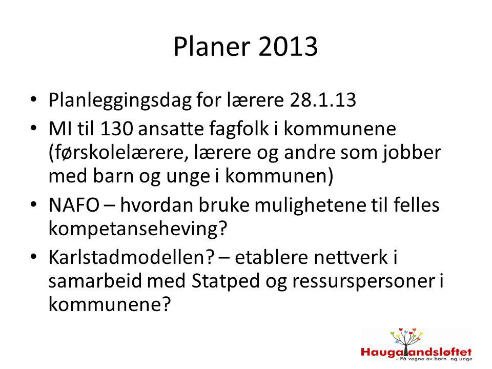 Planer 2013 Planleggingsdag for lærere 28.1.13