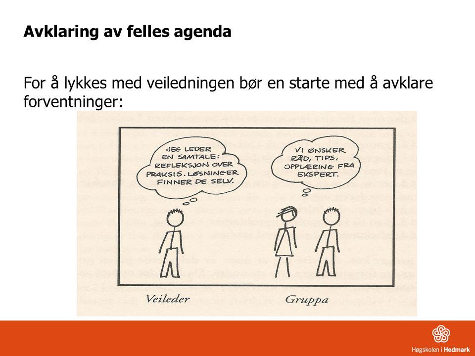 Avklaring av felles agenda