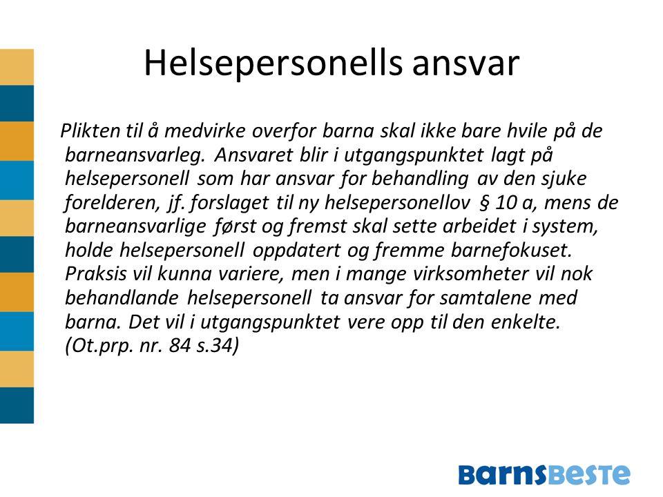 Helsepersonells ansvar