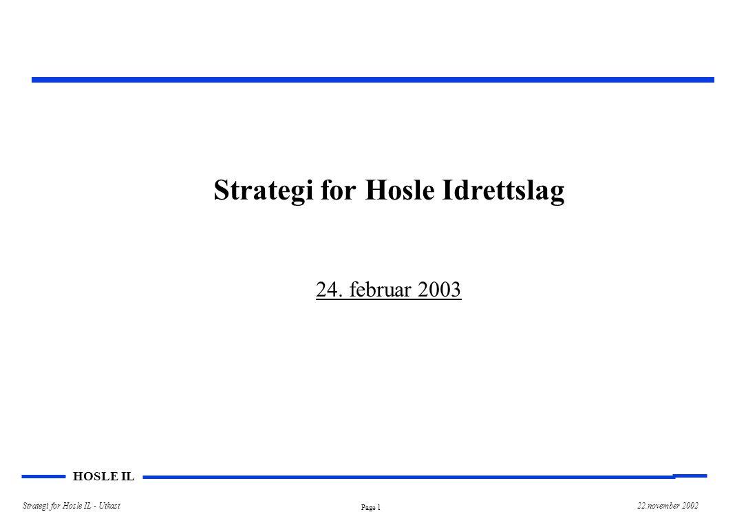 Strategi for Hosle Idrettslag