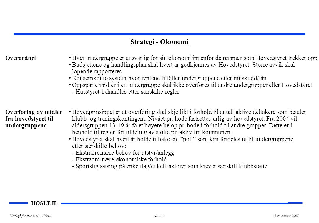 Strategi - Økonomi Overordnet