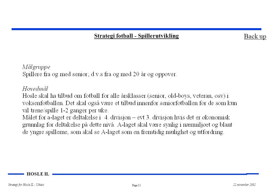Strategi fotball - Spillerutvikling