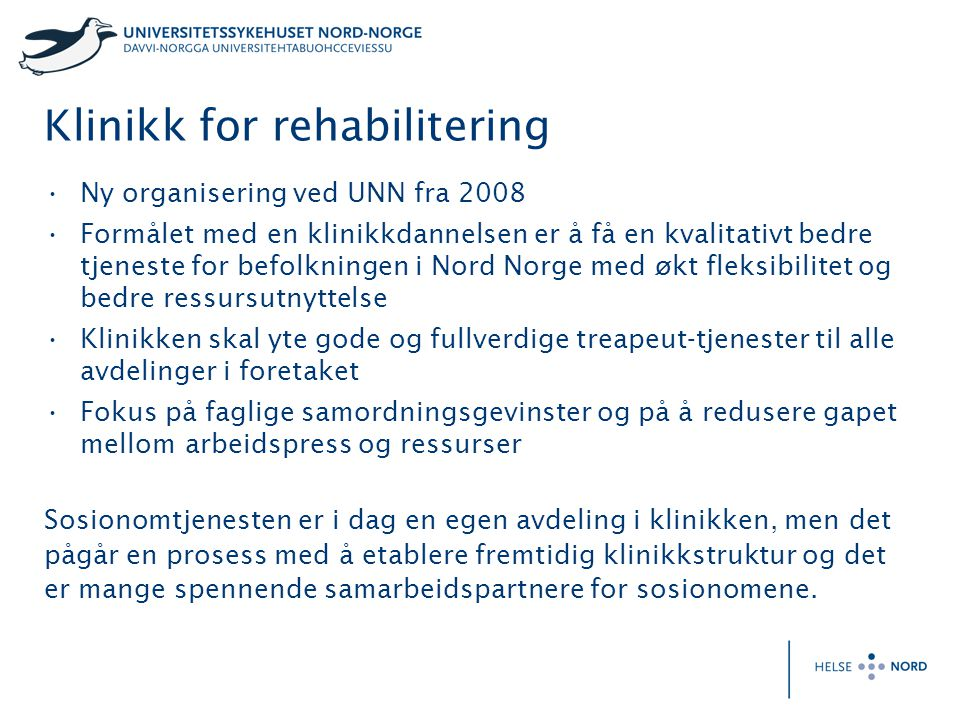 Klinikk for rehabilitering
