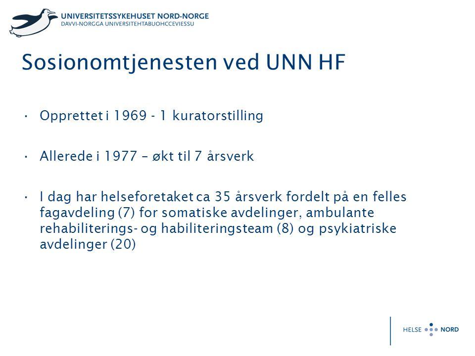 Sosionomtjenesten ved UNN HF