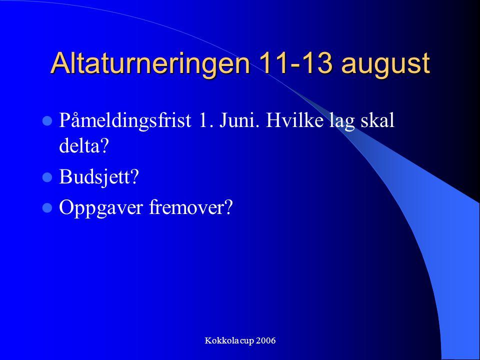 Altaturneringen 11-13 august
