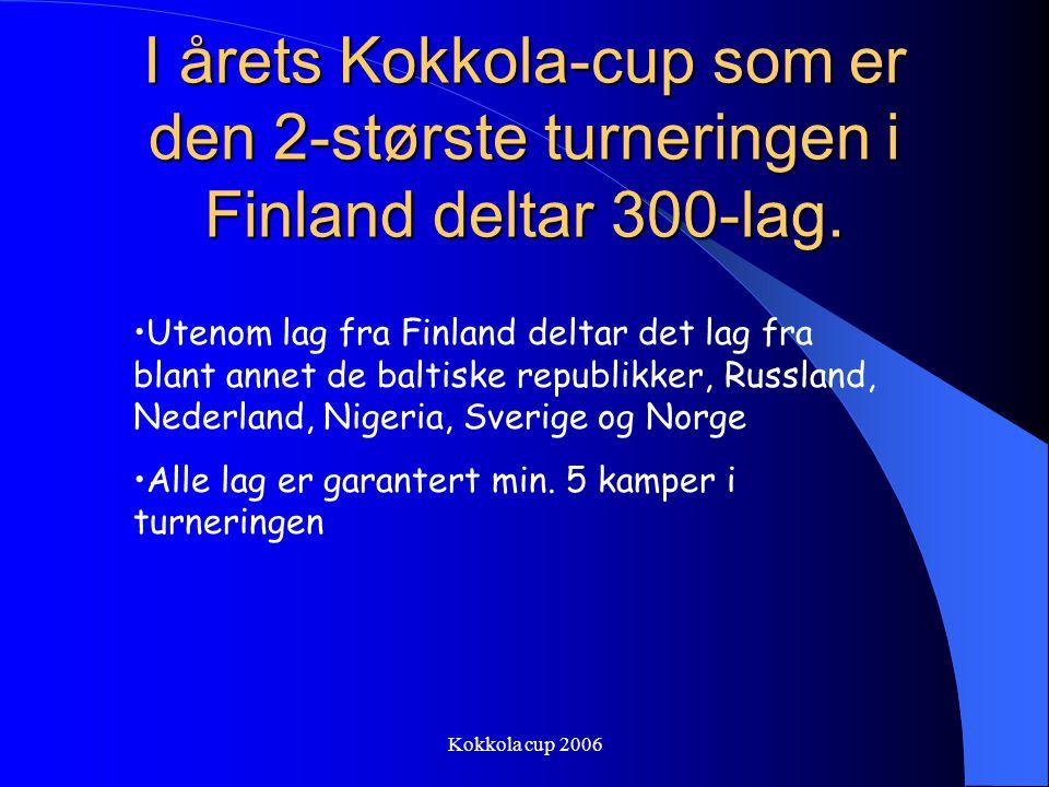 I årets Kokkola-cup som er den 2-største turneringen i Finland deltar 300-lag.