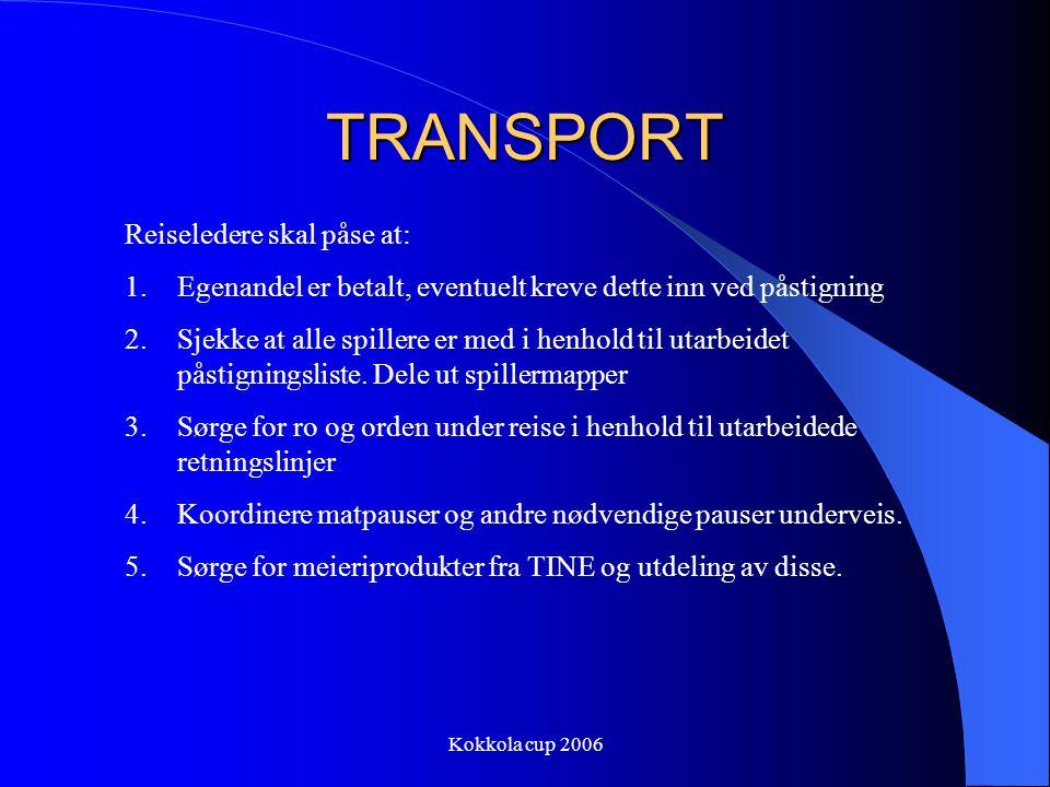 TRANSPORT Reiseledere skal påse at: