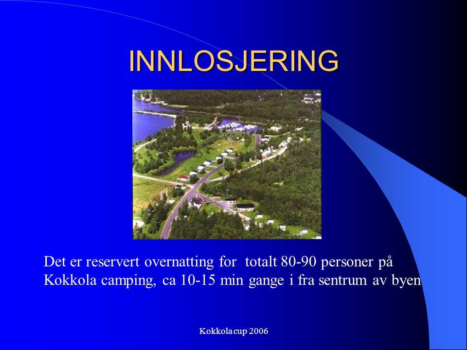 INNLOSJERING Det er reservert overnatting for totalt 80-90 personer på Kokkola camping, ca 10-15 min gange i fra sentrum av byen.