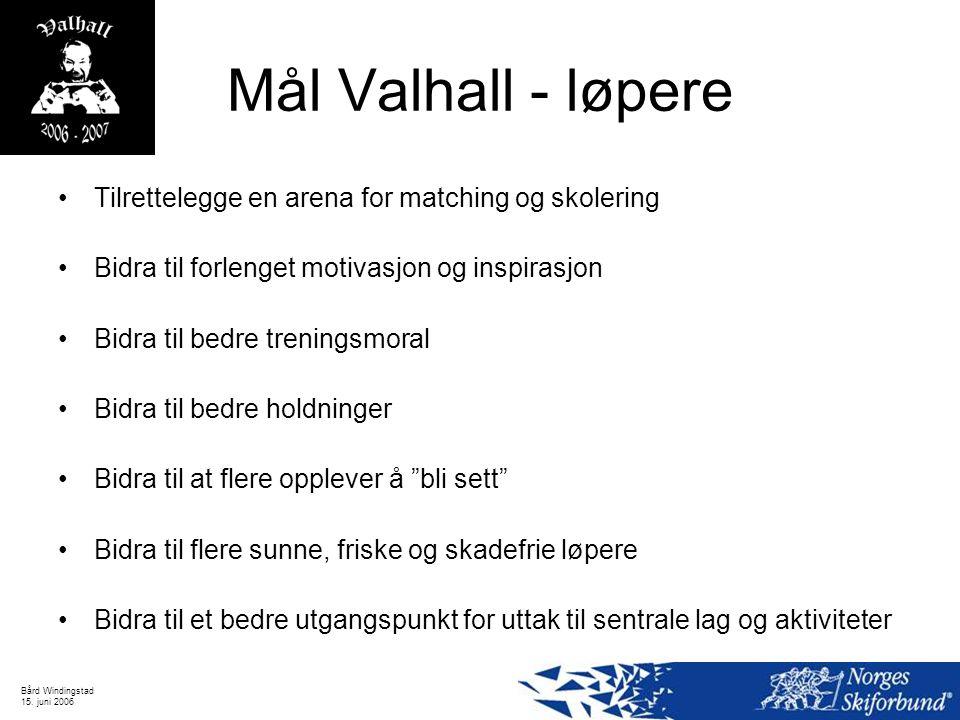Mål Valhall - løpere Tilrettelegge en arena for matching og skolering