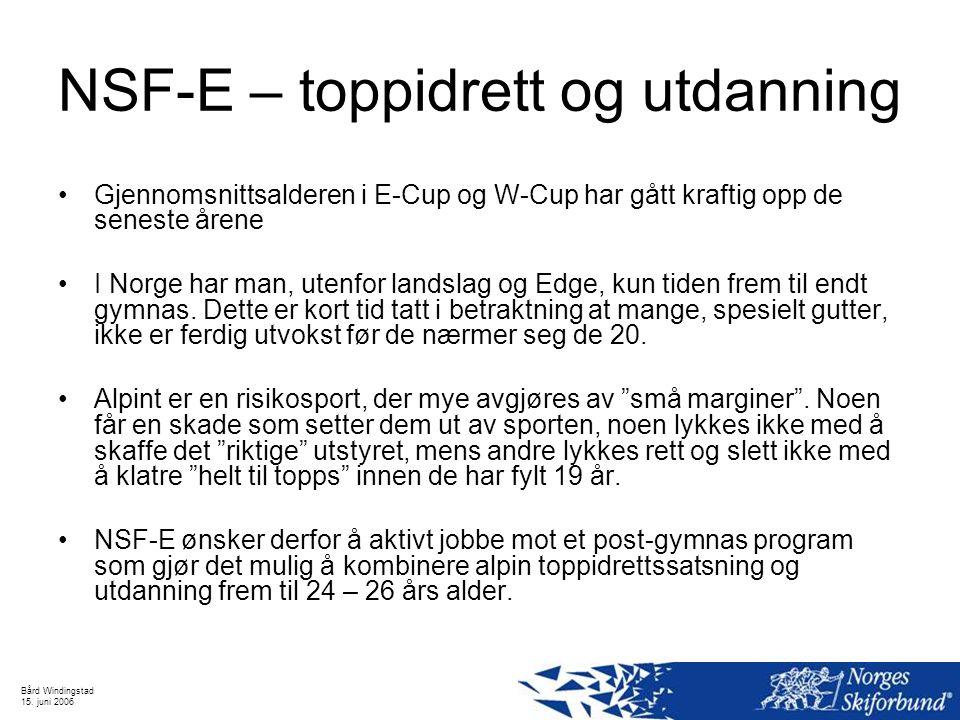 NSF-E – toppidrett og utdanning