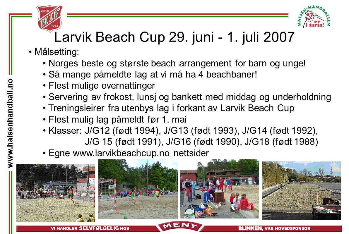 Larvik Beach Cup 29. juni - 1. juli 2007