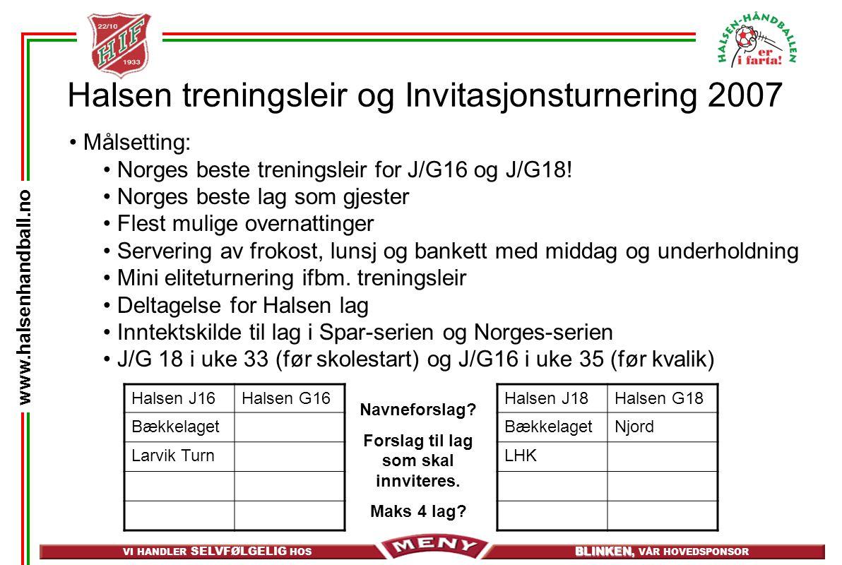 Halsen treningsleir og Invitasjonsturnering 2007
