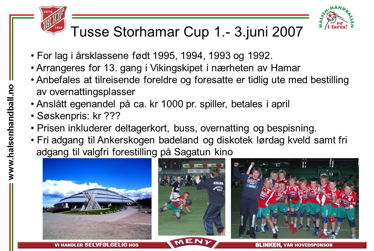 Tusse Storhamar Cup 1.- 3.juni 2007
