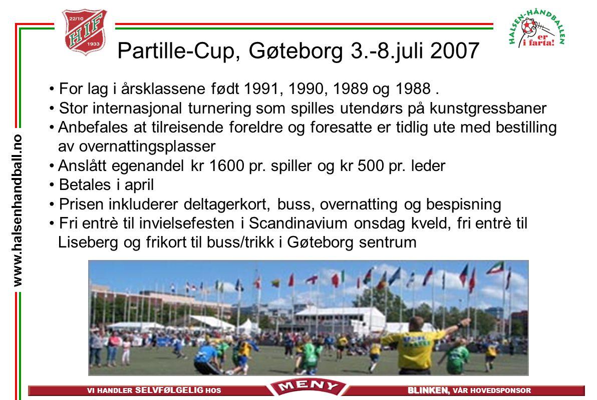 Partille-Cup, Gøteborg 3.-8.juli 2007