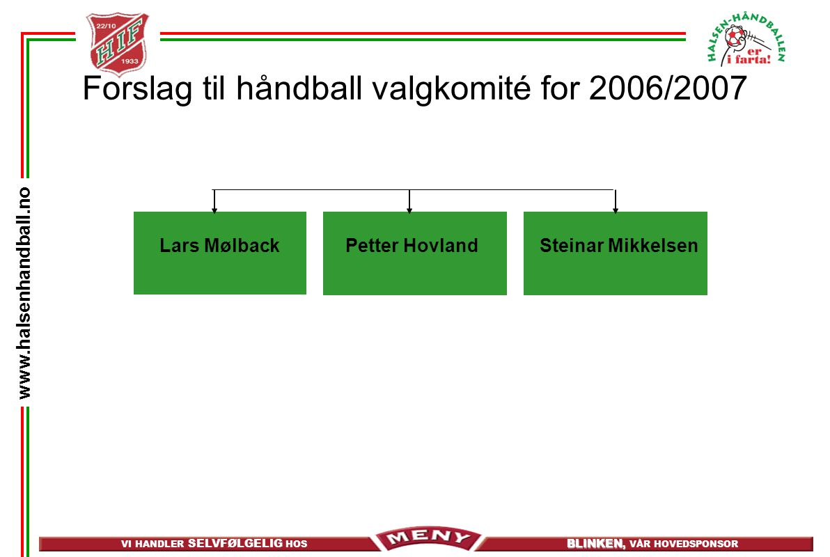 Forslag til håndball valgkomité for 2006/2007