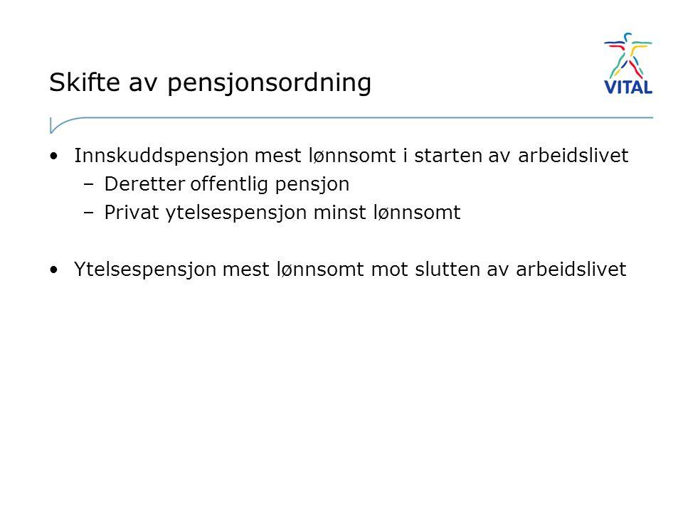 Skifte av pensjonsordning