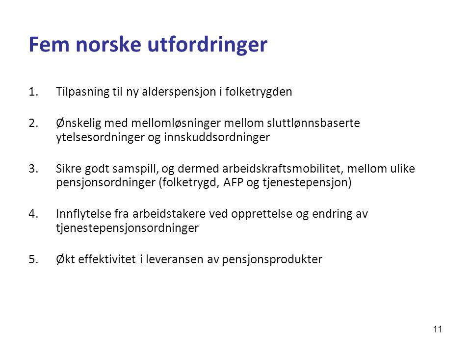 Fem norske utfordringer