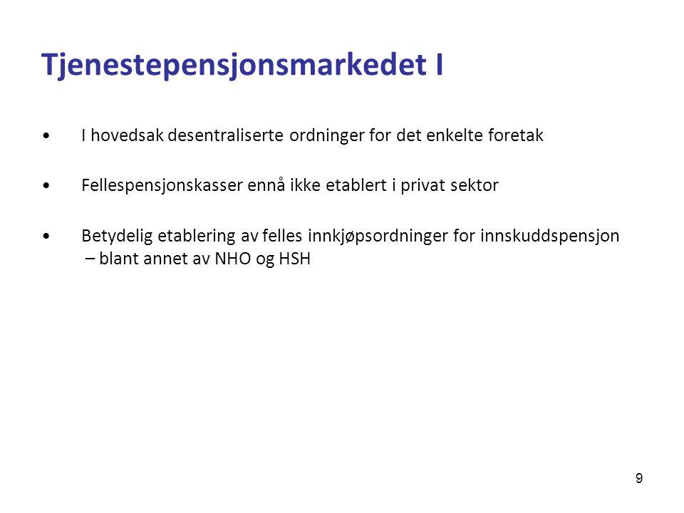 Tjenestepensjonsmarkedet I