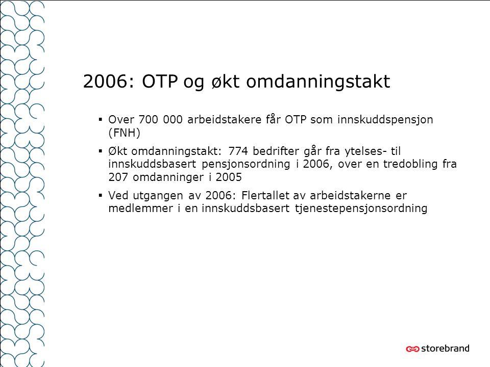 2006: OTP og økt omdanningstakt