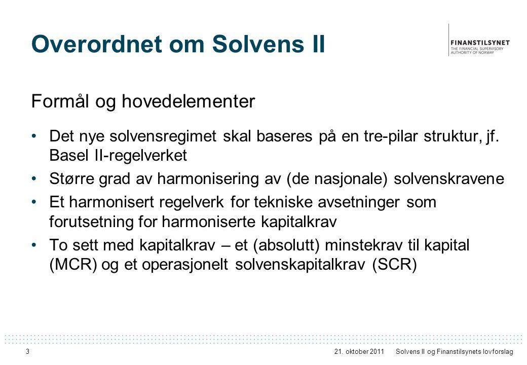 Overordnet om Solvens II