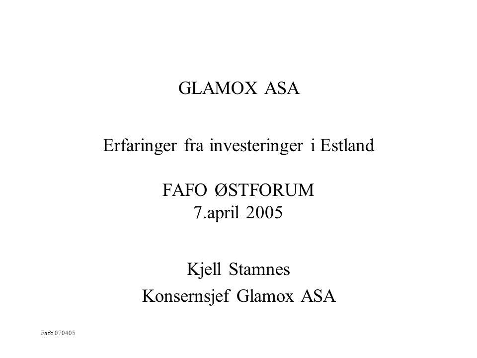 Kjell Stamnes Konsernsjef Glamox ASA