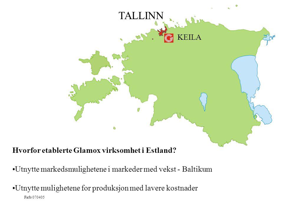 TALLINN KEILA Hvorfor etablerte Glamox virksomhet i Estland