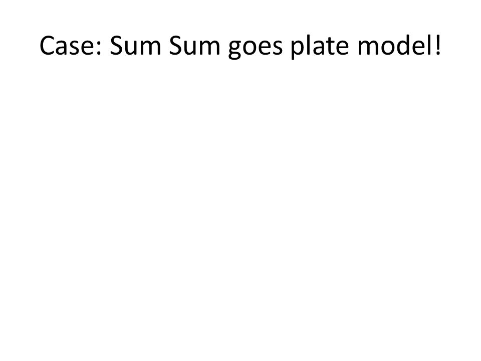 Case: Sum Sum goes plate model!