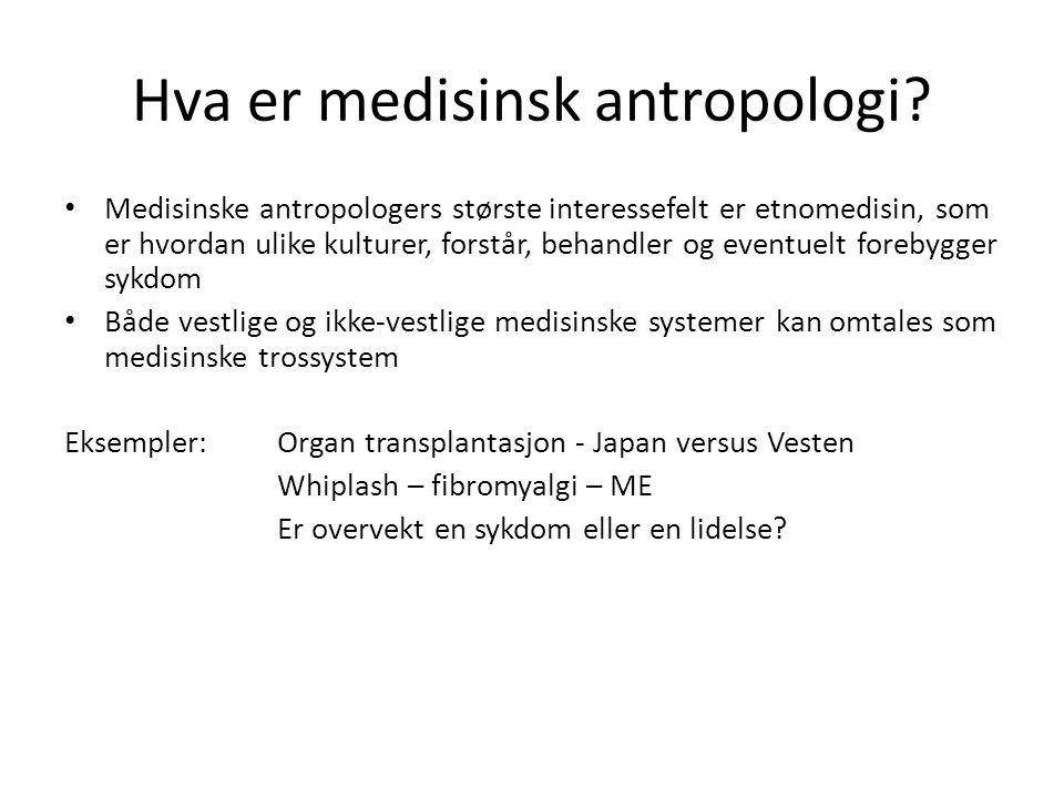 Hva er medisinsk antropologi