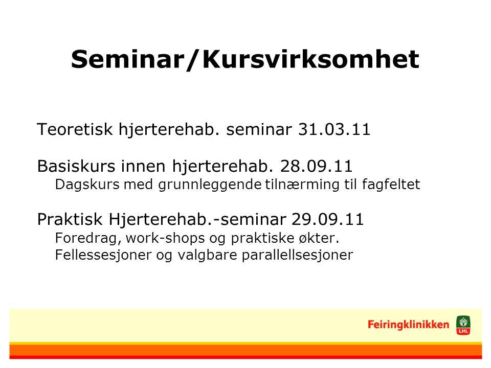 Seminar/Kursvirksomhet