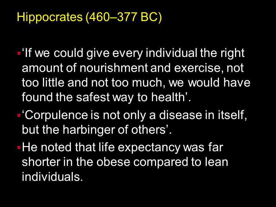 Hippocrates (460–377 BC)