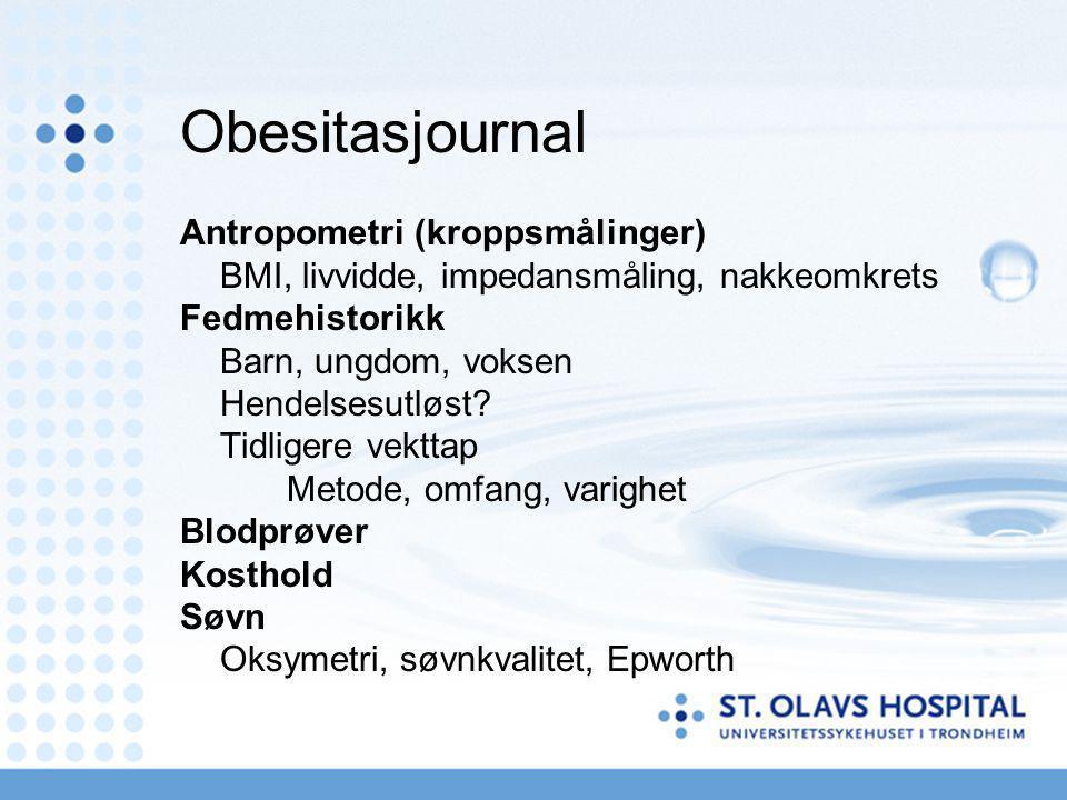 Obesitasjournal Antropometri (kroppsmålinger)