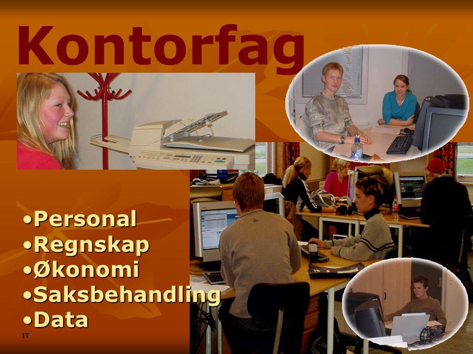 Kontorfag Personal Regnskap Økonomi Saksbehandling Data IT