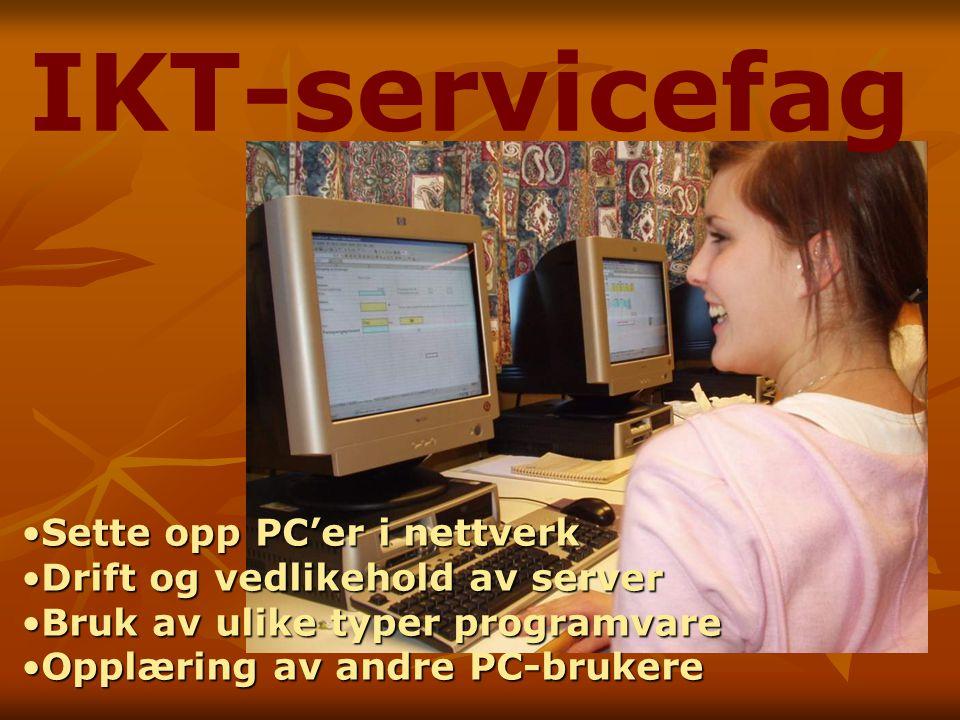 IKT-servicefag Sette opp PC'er i nettverk