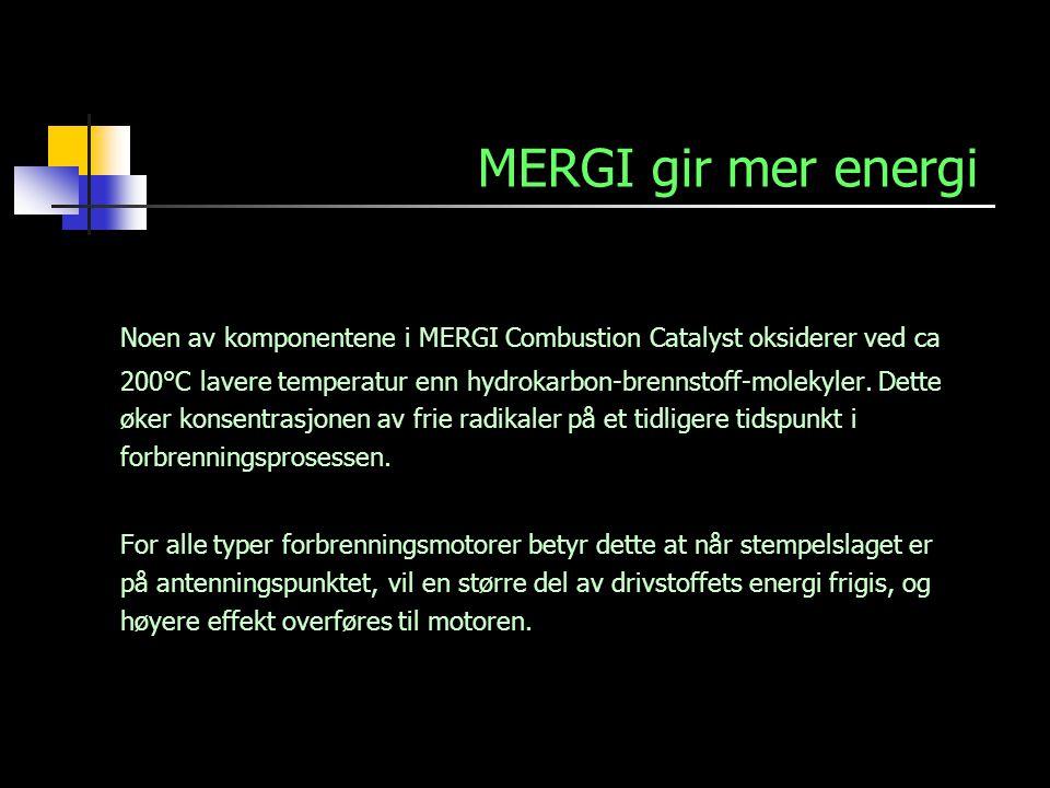 MERGI gir mer energi