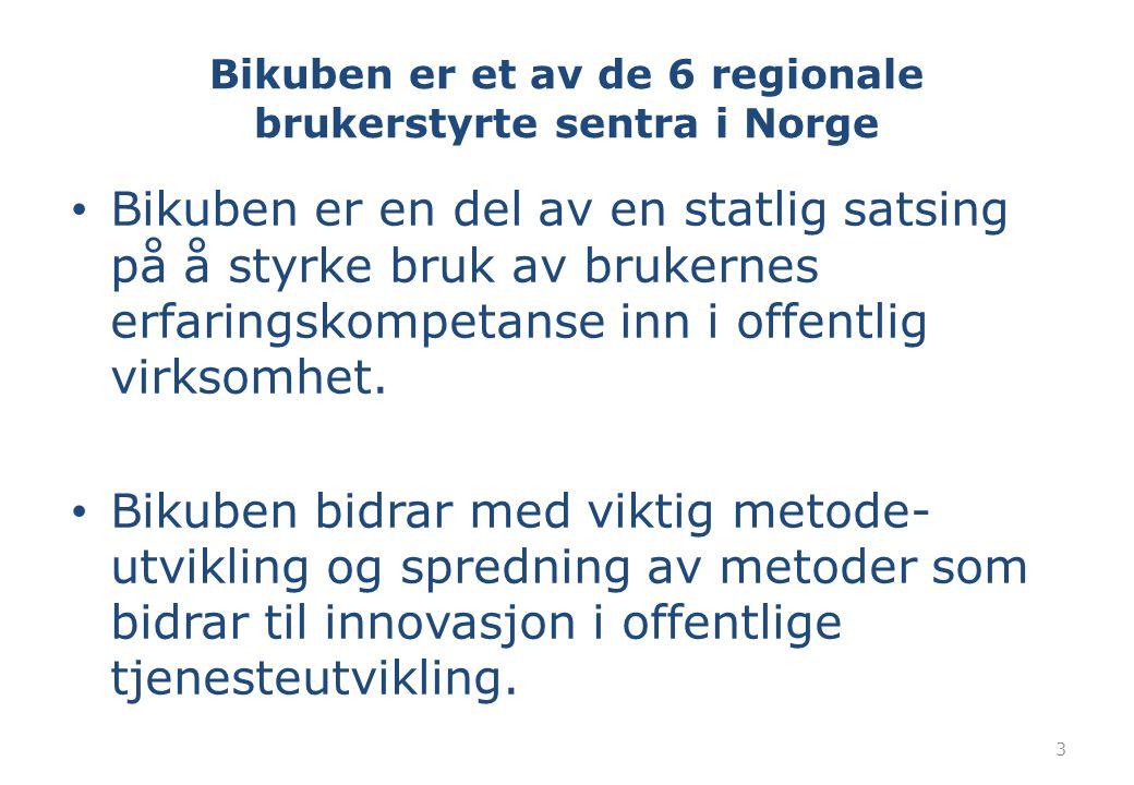 Bikuben er et av de 6 regionale brukerstyrte sentra i Norge
