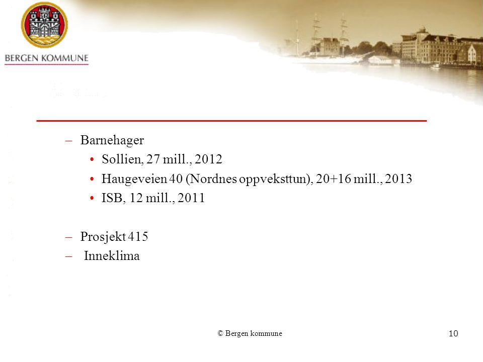 Haugeveien 40 (Nordnes oppveksttun), 20+16 mill., 2013
