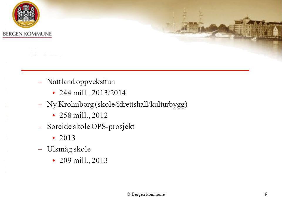 Ny Krohnborg (skole/idrettshall/kulturbygg) 258 mill., 2012