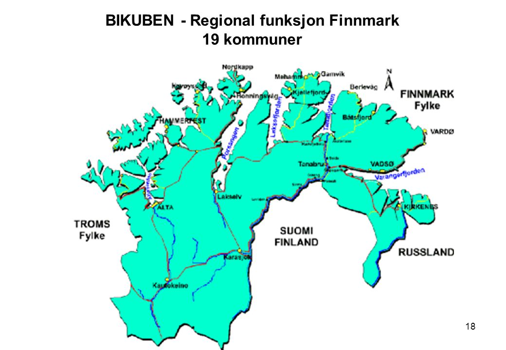 BIKUBEN - Regional funksjon Finnmark 19 kommuner