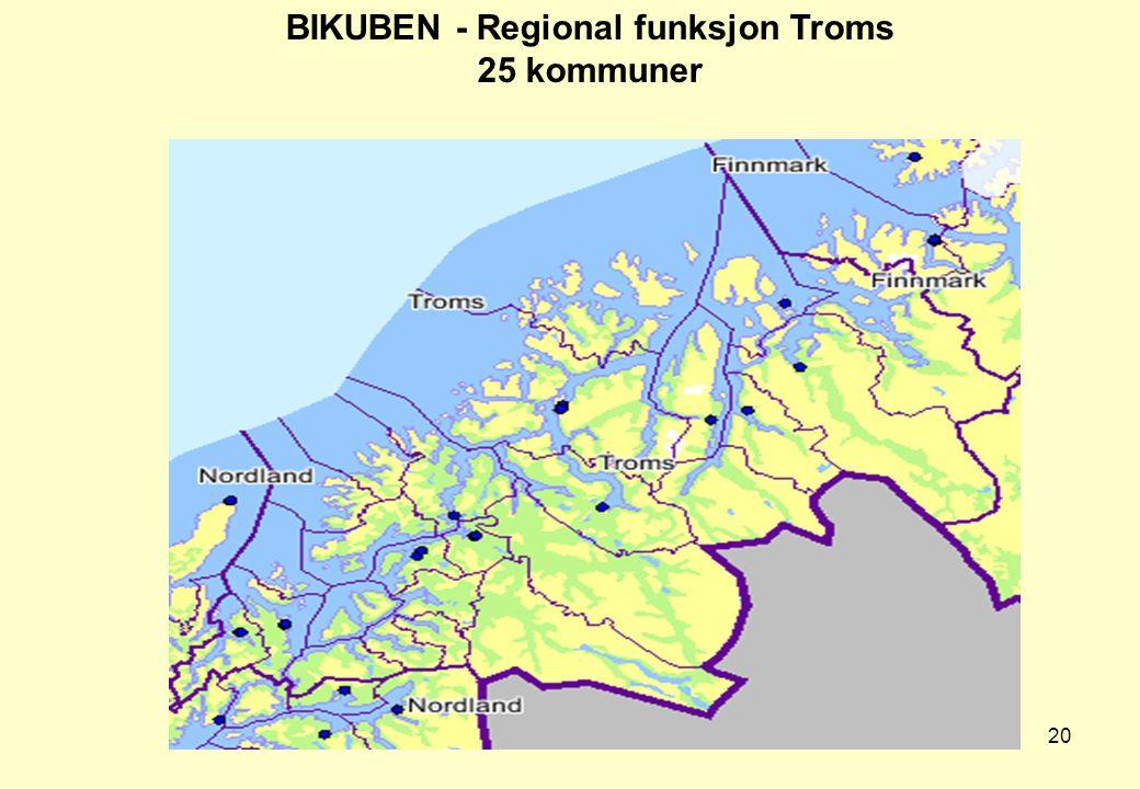 BIKUBEN - Regional funksjon Troms 25 kommuner