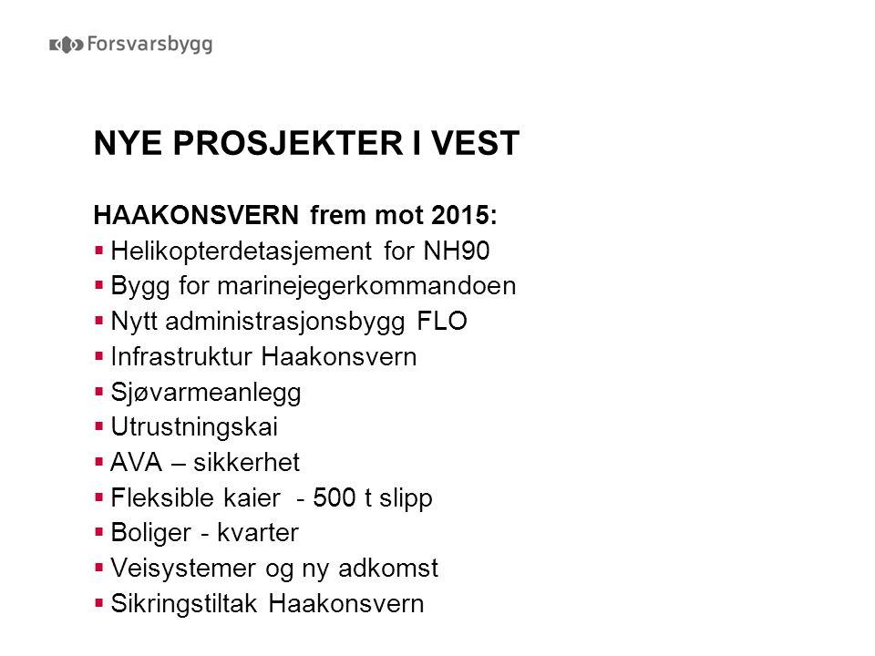 NYE PROSJEKTER I VEST HAAKONSVERN frem mot 2015: