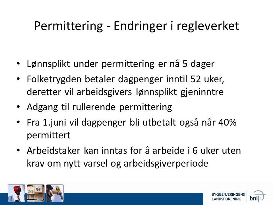 Permittering - Endringer i regleverket