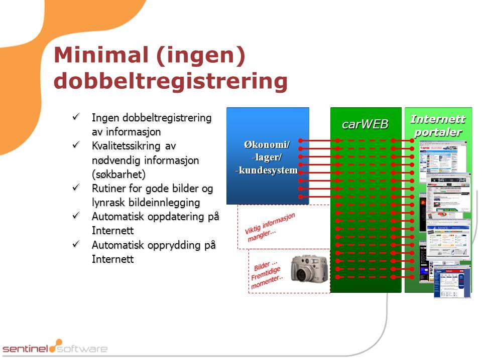 Minimal (ingen) dobbeltregistrering