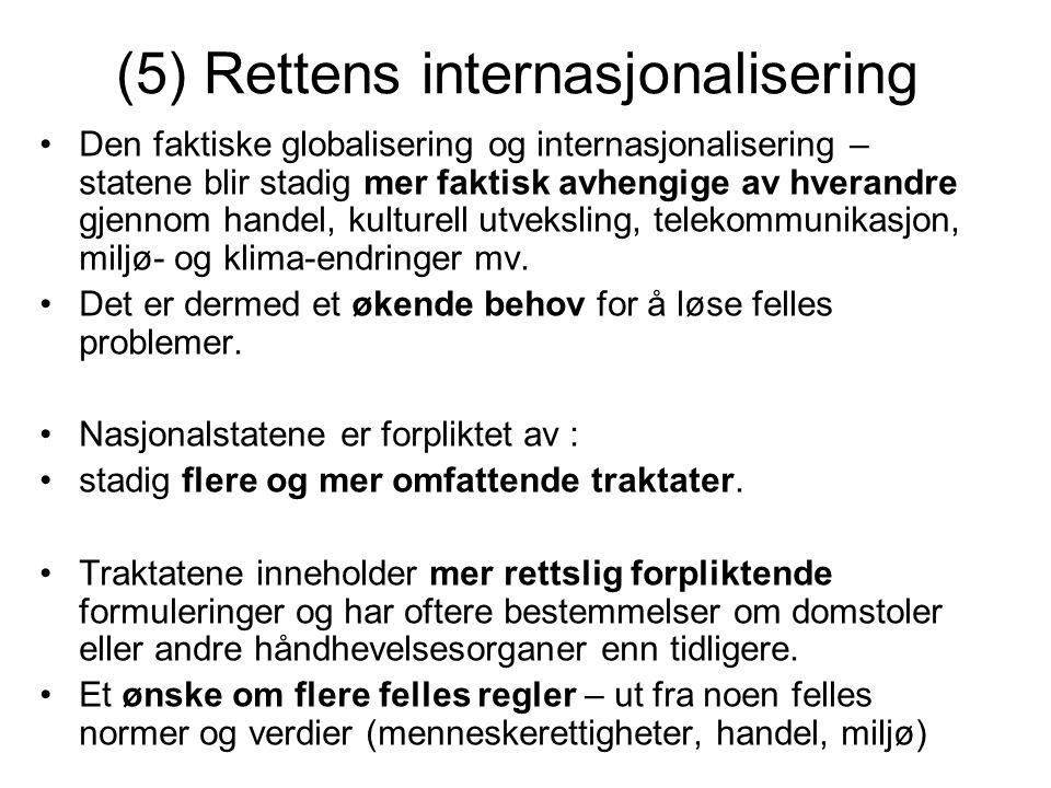 (5) Rettens internasjonalisering