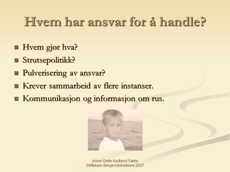 Hvem har ansvar for å handle